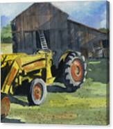 Neighbor Dons Tractor Canvas Print