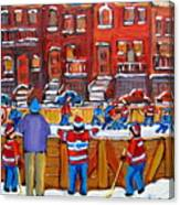 Neighborhood  Hockey Rink Canvas Print