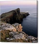 Neist Point Lighthouse, Isle Of Skye, Scotland Canvas Print