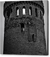 Nenagh Castle Tower Bw Canvas Print
