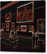 Neon Art Gallery At Louvre Canvas Print