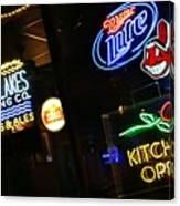 Neon Bar Signs Canvas Print