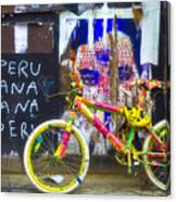 Neon Bike Canvas Print