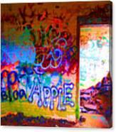 Neon Bunkers Canvas Print