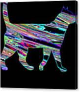Neon Cat Cool Canvas Print