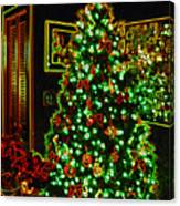 Neon Christmas Tree Canvas Print