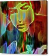 Neon Color Bob Dylan Canvas Print
