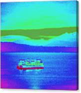 Neon Ferry Canvas Print