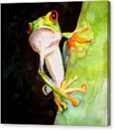 Neon Frog Canvas Print