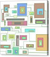 Neon Geometrics 2 Canvas Print