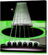 Neon Green Guitar 18 Canvas Print