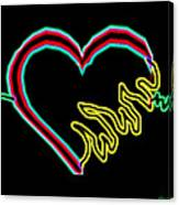 Neon Heart  Canvas Print