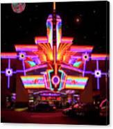 Neon Night At The Bijou Canvas Print