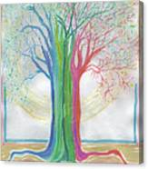 Neon Rainbow Tree By Jrr Canvas Print