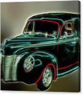 Neon Ride 3562 Canvas Print