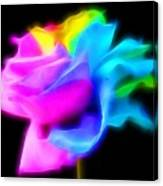 Neon Romance Canvas Print