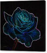 Neon Rose 3 Canvas Print