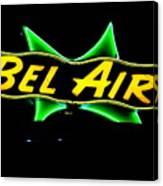 Neon Sign - Bel Air Motel - Wildwood Canvas Print