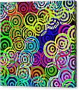 Neon Swirls Canvas Print