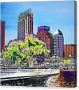 Neon Tampa Canvas Print
