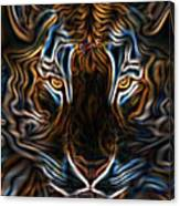 Neon Tigress Canvas Print