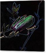 Neon Tulip Tree 5090 Canvas Print