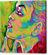 Neon Vibes Painting Canvas Print