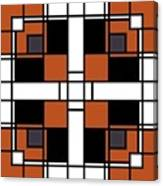 Neoplasticism Symmetrical Pattern In Tijuna Gamboge Canvas Print