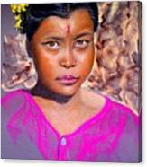 Nepalese Girl Canvas Print