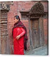 Nepalese Woman Canvas Print