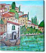 Nesso Village In Lake Como Canvas Print