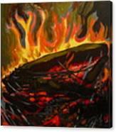 Nest On Fire Canvas Print
