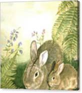 Nesting Bunnies Canvas Print