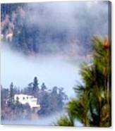 Nestled In The Fog Canvas Print