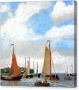 Netherland's Harbour Canvas Print