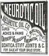 Neurotic Vintage Ad Canvas Print