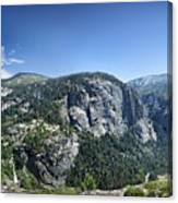 Nevada And Vernal Falls From Near Grizzly Peak - Yosemite Valley Canvas Print