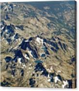 Nevada Mountain Terrain Aerial Lakes Canvas Print