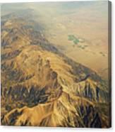 Nevada Mountain Terrain Aerial Canvas Print
