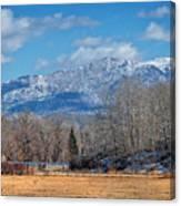Nevada Ranch In Winter Canvas Print