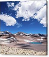 Nevado Ojos Del Salado And Laguna Negra Canvas Print