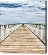 Never Ending Beach Pier Canvas Print