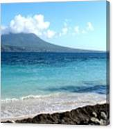 Nevis Across The Channel Canvas Print
