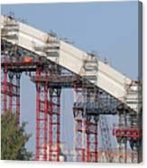 New Bridge Concrete Arc Construction Site Canvas Print