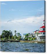 New Canal Lighthouse And Lakefront - Nola Canvas Print
