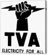 New Deal: Tva Symbol Canvas Print