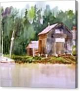 New England Boat Repair Canvas Print