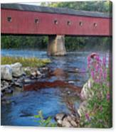 New England Covered Bridge Connecticut Canvas Print