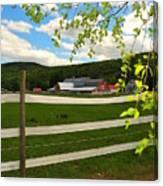 New England Farm Canvas Print