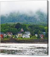 Granville Ferry Nova Scotia Canada  Fog Lifting Canvas Print